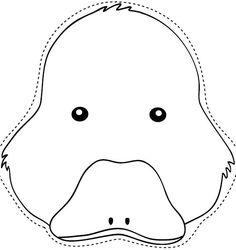 Molde de máscara de pato - Imagui