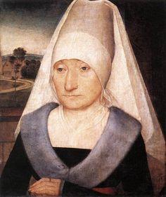 Hans Memling (1430-1494) —   Portrait of an Old Woman, 1470-1475 : The Louvre  Museum, Paris.  France  (763×910)