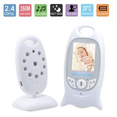 Dutiger 8609019 Baby Security Monitors Wireless Baby Video Monitor Night Vision, Temperature Showing with Music and 2 Way Talk Talkback System * Be sure to check out this awesome sponsored product.