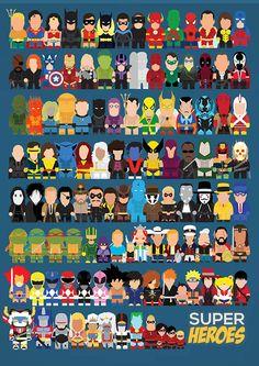 Superheroes on Behance