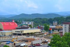 Beautiful view from the top of the Wheel in Pigeon Forge! Visit the Island to ride the Wheel!