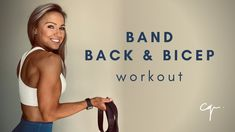 Biceps Workout At Home, Arm Workouts At Home, At Home Workouts For Women, Band Workouts, Exercise Bands, Training Workouts, Weight Training, Chest And Back Workout, Back Workout Women