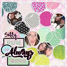 A Silly Good Day uses elements and papers by Melo, Marisa and Elif from the Good Day Bundle at Pixel Scrapper.com. Template is by Janet Scott Designs.