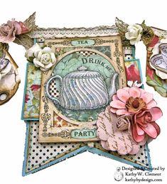 Stamperia Alice Tea Time Banner - Kathy by Design Alice Tea Party, Alice In Wonderland Tea Party, Paper Art, Paper Crafts, Alice Book, Scrapbook Albums, Scrapbooking, Mini Album Tutorial, White Rabbits