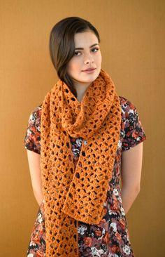 Flights of Fancy Scarf free crochet pattern from Lion Brand Yarn.