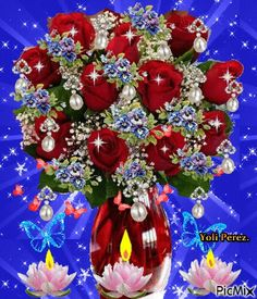 Hermosas Rosas Rojas Rose Flower Wallpaper, Flowers Gif, Flowers Nature, Pretty Flowers, Beautiful Flowers Images, Beautiful Gif, Flower Images, Beautiful Roses, Summer Flower Arrangements