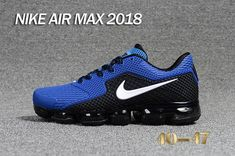 Nike 2018 KPU +5 Nike Air Vapor MAX 2018 +5 KPU Men Black Royal Blue 40-47 Nike Men, Nike Air Max, New Nike Air, Mens Running, Running Shoes For Men, Men's Sneakers, Sneakers Fashion, Nickers, Adidas
