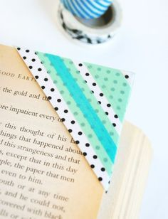 WASHI TAPE BOOKMARKS ~ What a cute way of using washi tape, I could do with a quite a few of these.