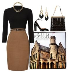 """""""Pretty Powerful"""" by easy-dressing ❤ liked on Polyvore featuring Phase Eight, Valentino, Chanel, Michael Kors, patentleather, polyvoreeditorial and blackanbrown"""