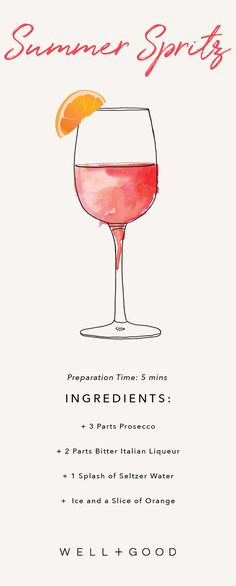 How to make an Aperol spritz summer cocktail.