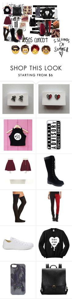 """""""5SOS Concert #E"""" by ellie-lopez ❤ liked on Polyvore featuring CellPowerCases, mimi & didi, Charlotte Russe, Ask Alice, Tripp, Converse and Loeffler Randall"""