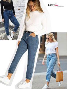 de Modelos de Calça Jeans 2019 looks com calça MOM jeans looks com calça MOM jeans Ripped Jeggings, Ripped Knee Jeans, Jeans Pants, Mom Pants, Cargo Pants, Boyfriend Jeans, Extreme Ripped Jeans, Jean Outfits, Casual Outfits
