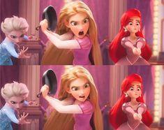 Elsa, Rapunzel & Ariel❤️