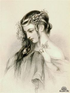 Artist: Charles Theodosius Heath --- Heroines of Shakespeare (1904 lithograph.)