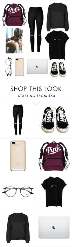 """""""📚📓"""" by zofapieretti on Polyvore featuring Vans, Ray-Ban y Ivy Park"""
