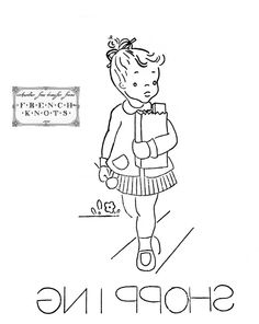 Free Little Girl DOW Embroidery Transfer Patterns