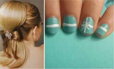 {Wedding Trends} Bow Big Or Bow Home - Belle The Magazine Aqua Wedding, Tiffany Wedding, Wedding Bows, Wedding Nails, Cute Nails, Pretty Nails, Hair And Nails, My Nails, Tiffany Nails