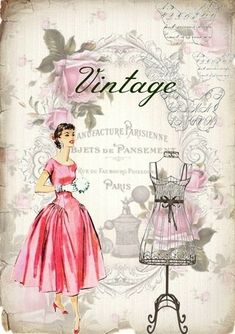 I love these vintage style prints