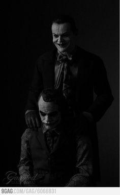 #JackNicholson and #HeathLedger as #TheJoker.