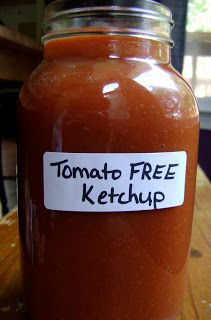 While I am cooking for a nightshade free friend, I decided to give making tomato free ketchup a try. I found this recipe on Sarah B Desig...