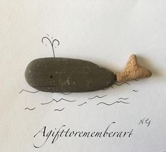 """The little whale""  made this for my little boy's bedroom and he loved it  #agifttorememberart #pebbleart #makersgonnamake #whale #etsy #etsyseller #etsyau #craft #kidsbedroom #ocean #nature #australia #water #gift #unique #handmade #stone #kidsdecor #beachdecor #adelaide #frame #photooftheday #art"
