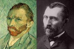 Vincent van Gogh: self portrait vs. photograph