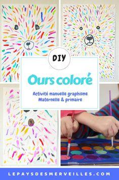 Une activité d'art visuel pour réaliser un joli ours coloré. C'est un exercice de graphisme qui convient et qui plait aussi bien aux enfants de maternelle qu'aux enfants de primaire. Voici une belle idée de peinture pour décorer la chambre des enfants #lepaysdesmerveilles #artvisuel #artvisuelmaternelle #graphisme #graphismematernelle #maternelle #activitemanuelleenfant #ours #decochambre #activitemanuelleenfant - coffeecups