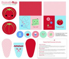 DIY Sewing Friends Accessory Kit  fabric by fantastictoys on Spoonflower - custom fabric