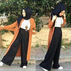 New Fashion Casual Elegant Trousers 19 Ideas Hijab style hijab Modern Hijab Fashion, Street Hijab Fashion, Hijab Fashion Inspiration, Islamic Fashion, Muslim Fashion, Modest Fashion, Fashion Outfits, Fashion Ideas, Modest Wear