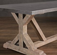 Dear Restoration H, Please make this with wood top, not just zinc. It will sell! Love Lisa  Railroad Tie Rectangular Dining Table