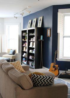 Modern navy living room
