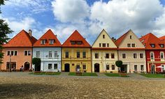 Old Town Houses In Bardejov, Slovakia by Elenarts - Elena Duvernay photo Famous Places, Old Town, Poland, Townhouse, Travel Photos, Fine Art America, Mansions, House Styles, Image