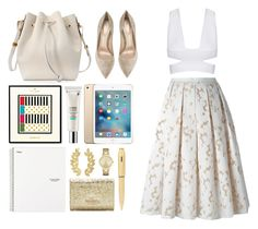 """""""3.872"""" by katrina-yeow ❤ liked on Polyvore featuring Lancôme, Kate Spade, Michael Kors, Gianvito Rossi, Sophie Hulme, Eddera and Cross"""