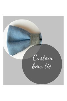 Custom bow tie. Pre tied bow tie - Made in Italy. Choose your fabric. #bowtie #bespoke #menswear
