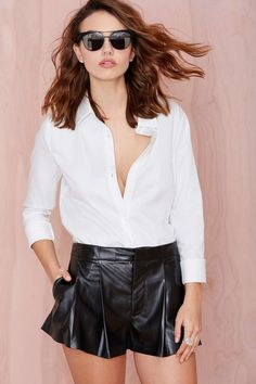 Nasty Gal Pleat It Short | Shop Clothes at Nasty Gal
