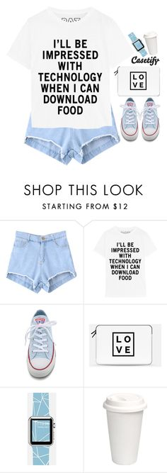 """""""Casetify 3.7"""" by emilypondng ❤ liked on Polyvore featuring mode, Converse, Casetify, women's clothing, women, female, woman, misses et juniors"""