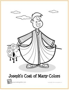 Joseph's Coat of Many Colors | Free Coloring Page - http://makingartfun.com/htm/f-maf-printit/joseph-and-his-coat-coloring-page.htm