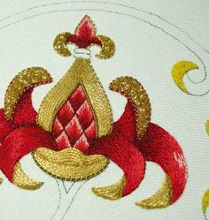 this makes me want to vomit. in a good way. - goldwork embroidery | needle 'n' thread