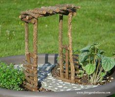 Unique DIY Fairy Garden And Furniture Design