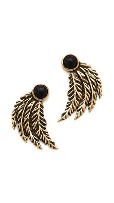 Pamela Love Feather Earrings | selected by jamesdrygoods.com for the made in america: contemporary project | #madeinusa |