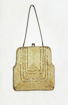 Vintage 1970's Deco inspired beaded purse by fifisfinds on Etsy, $65.00