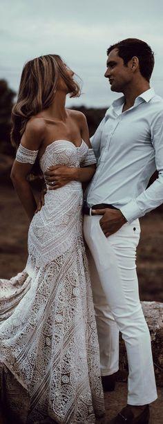 On Sale Soft Backless Wedding Dress Sweetheart Backless Lace Sheath Unique Designed Long Wedding Dresses Western Wedding Dresses, Wedding Dresses 2018, Bohemian Wedding Dresses, Bridal Dresses, Bridesmaid Dresses, Dress Wedding, Bohemian Theme, Bohemian Weddings, Bohemian Bride