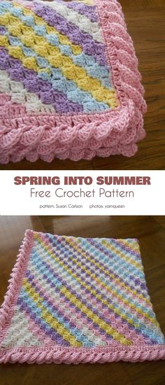 crochet is a lovely technique to make geometric designs, even pictures, using 'pixels'. It's an easy technique to make attractive, functional and highly decorative items. Crochet Border Patterns, Crochet Boarders, Free Baby Blanket Patterns, Baby Blanket Crochet, Crochet Bebe, Free Crochet, Knit Crochet, Crochet Afghans, Crochet Hooks