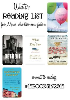 Winter Reading List for Moms who like non-fiction. #15BooksIn2015 #BookClub
