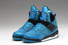 timeless design a2dae d1c2f Michael Jordan Flight 45 High Premium New Design WhiteDynamic Blue  Fireberry (Girls) GS Shoes 13694