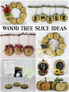 Wood Tree Slice Ideas                                                                                                                                                                                 More
