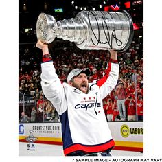 Alex Ovechkin Washington Capitals Fanatics Authentic 2018 Stanley Cup Champions Autographed x Raising Cup Photograph Stanley Cup Trophy, Stanley Cup Finals, Stanley Cup Champions, Washington Capitals Stanley Cup, Washington Capitals Hockey, Cup Wallpaper, Caps Hockey, Ice Hockey Players, Alexander Ovechkin