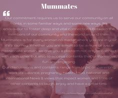 Mummates for all Kiwi woman....