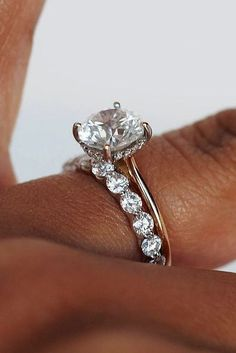 27 Rose Gold Engagement Rings By Famous Jewelers ❤️ rose gold engagement rings wedding set solitaire diamond ❤️ More on the blog: https://ohsoperfectproposal.com/rose-gold-engagement-rings/