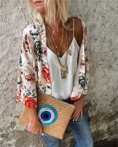 Plus Size Bohemian Printed Cardigan Ethnic Fashion, Boho Fashion, Fashion Outfits, Vetement Hippie Chic, Plus Size Bohemian, Summer Outfits, Cute Outfits, Estilo Hippie, Zara